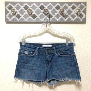 Joe's Jeans Cutoff Shorts Frayed Hem, Size 27